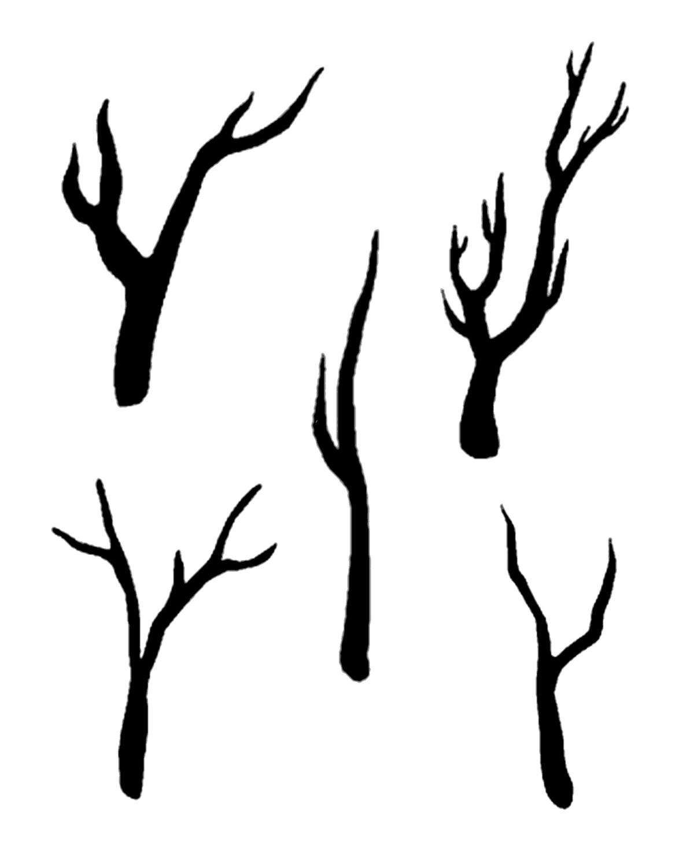Shadow Tree stencil 8x10