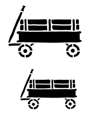 Wagon stencil 8x10