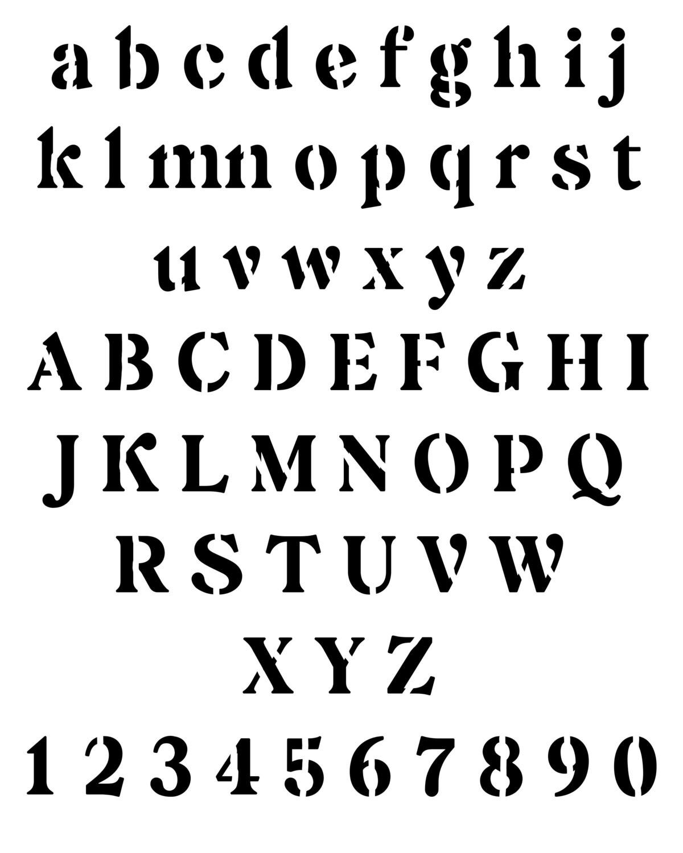 Newspaper Font stencil 8x10