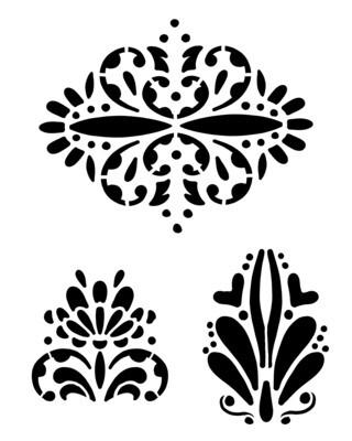 Spanish Elements stencil 8x10
