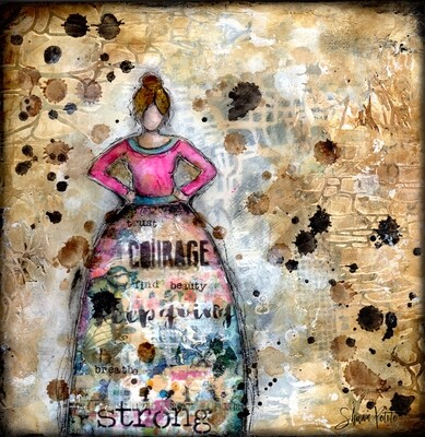 """""""Strong Girl"""" Print on Wood and Print to be Framed"""