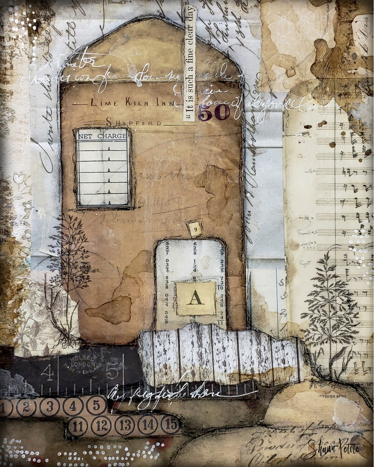 """A Fine Clear Day"" 9x12 mixed media original to be framed"