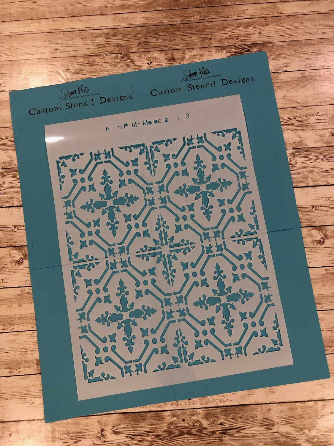 Moroccan Tile 3 12x16 clearance stencil