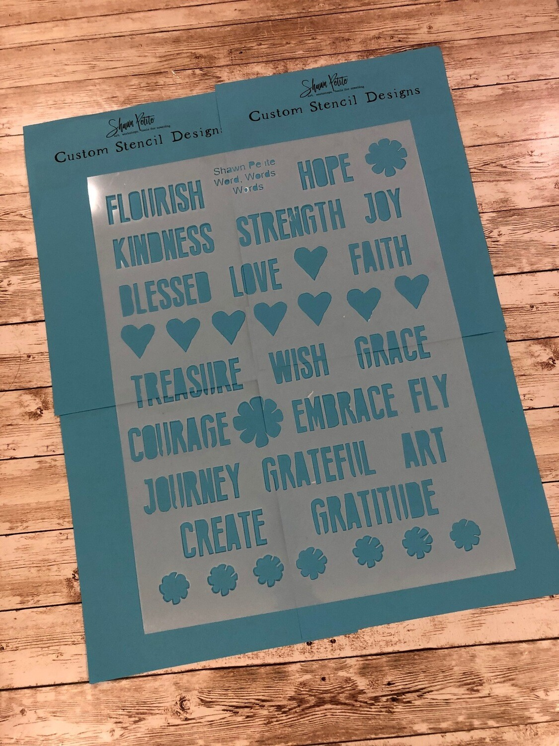 Words 12x16 clearance stencil