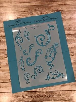 Flourish 12x16 clearance stencils