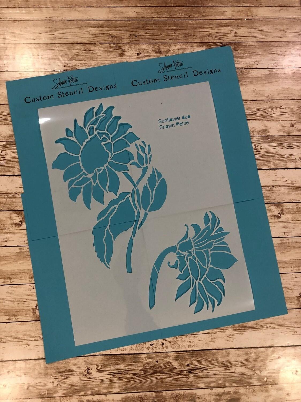Sunflower duo 12x16 clearance stencils