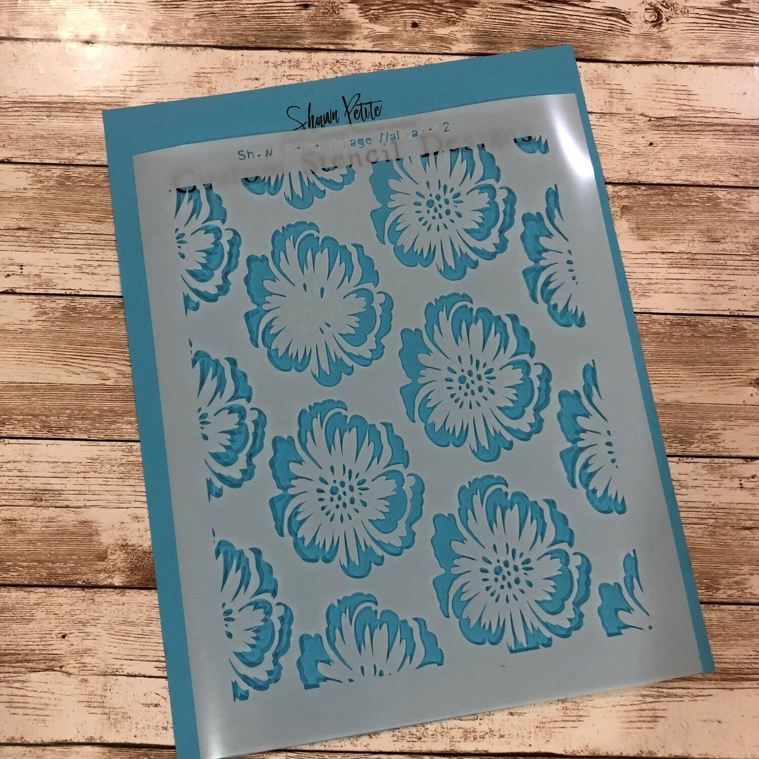 Vintage Wallpaper 2 8x10 clearance stencil