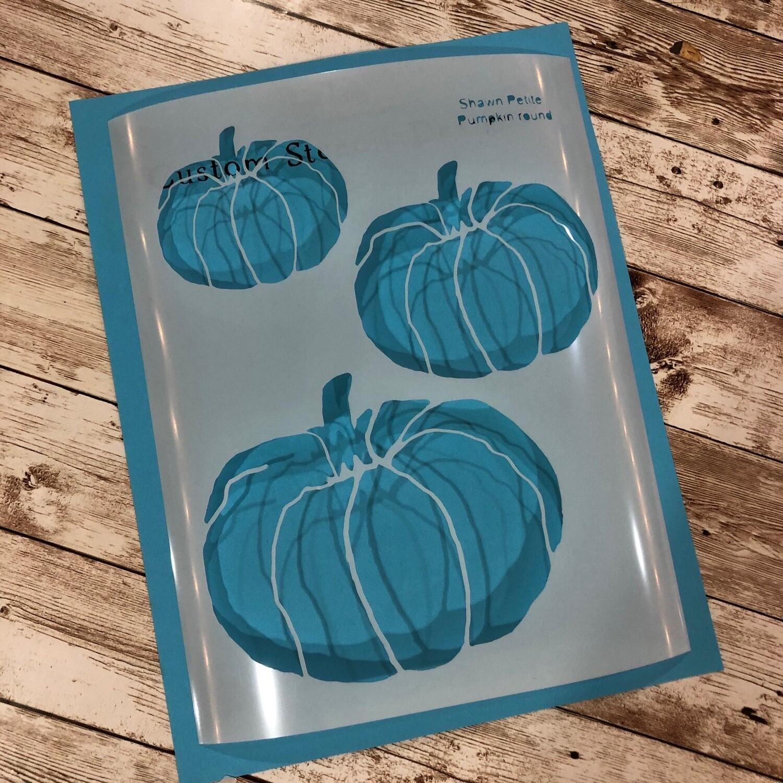 Pumpkins Round 8x10 clearance stencil