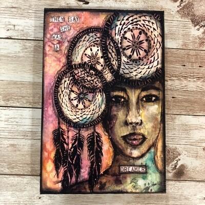 Dreamer Print on Wood 4x6 Clearance
