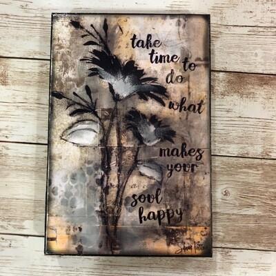 Take Time Prints on Wood 4x6 Clearance
