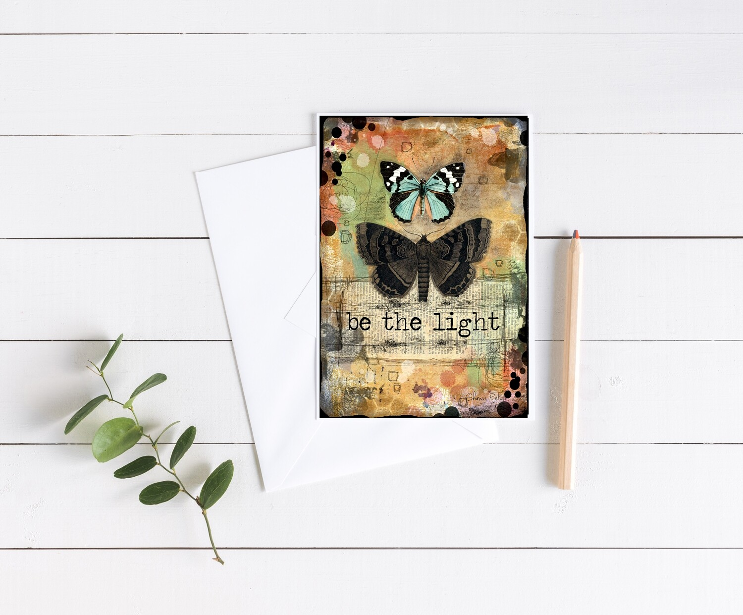 """Be the light"" 5x7 4 pack card"