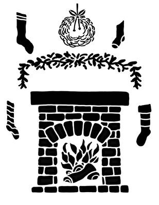 Fireplace maker stencil 8x10