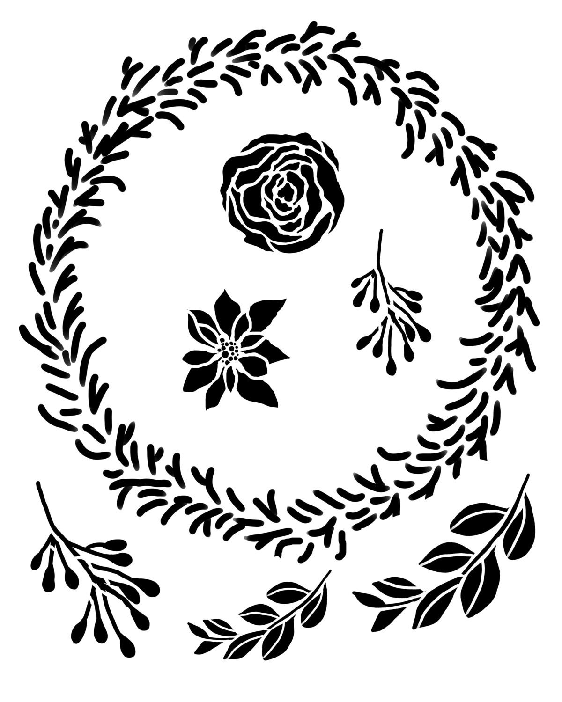 Wreath maker stencil 8x10