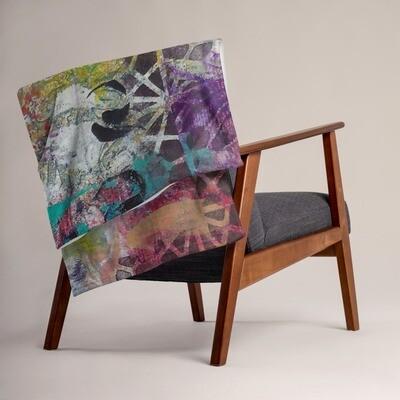 Gelli Print Throw Blanket