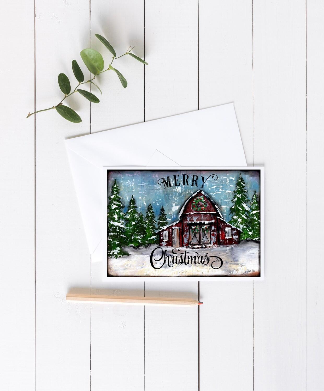 """""""Merry Christmas"""" 7x5 card"""