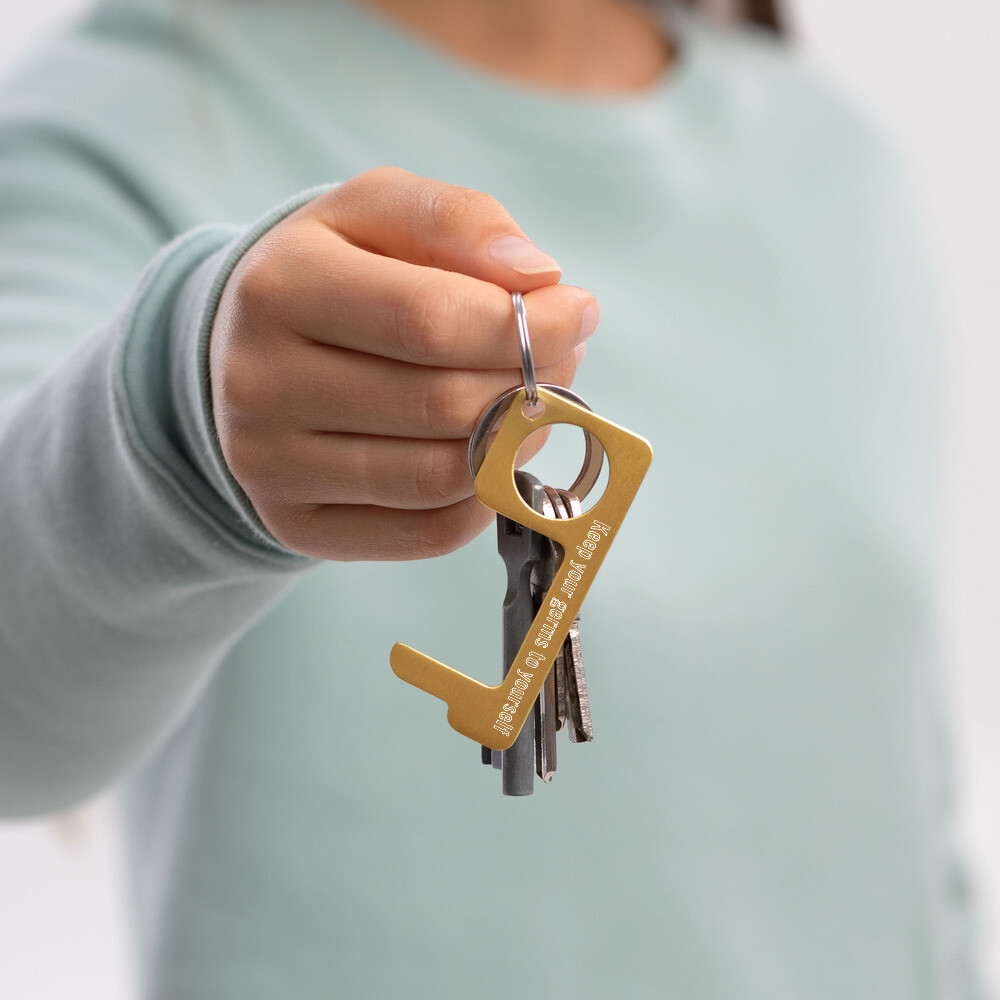 Keep your germs to yourself Engraved Brass Touch Tool