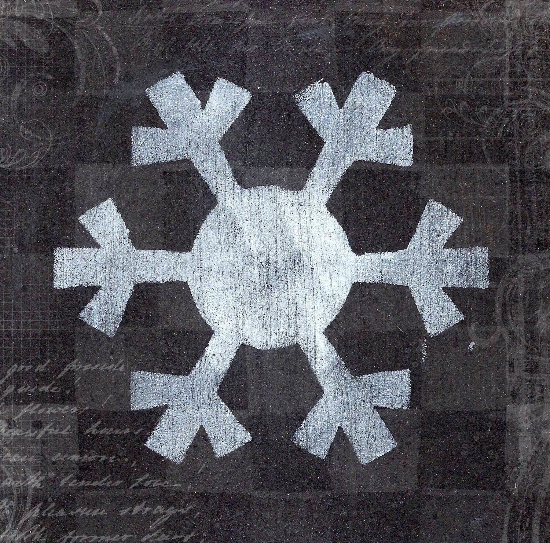 """Snowflake 5""  Prints on Wood 4x4 Overstock"