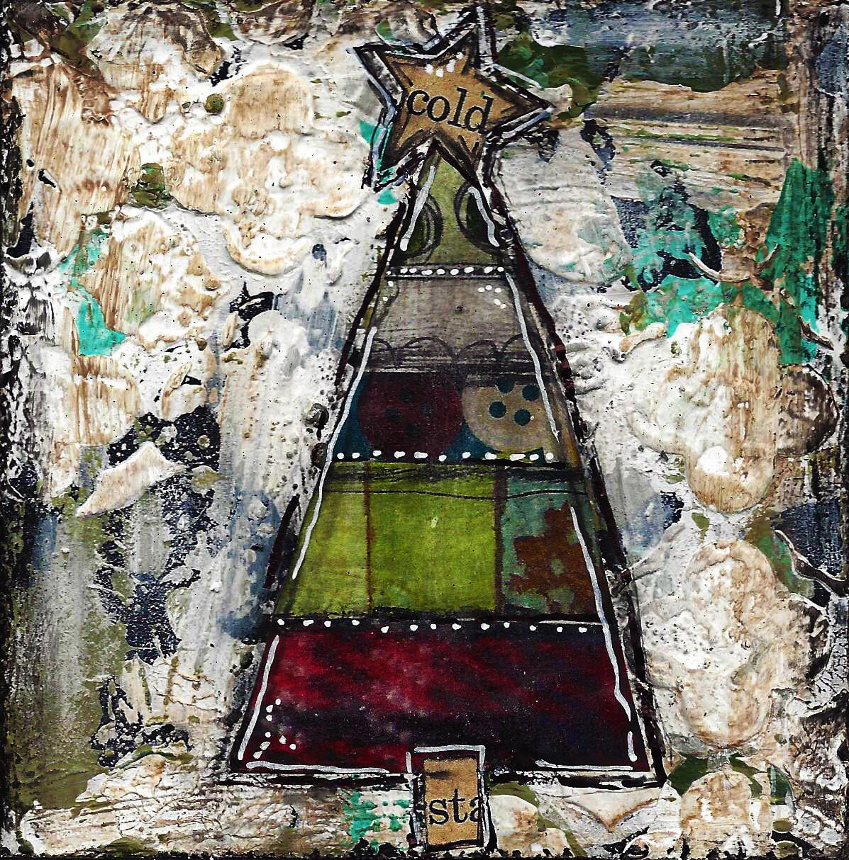 """Christmas tree cold star""  Print on Wood 4x4 Overstock"