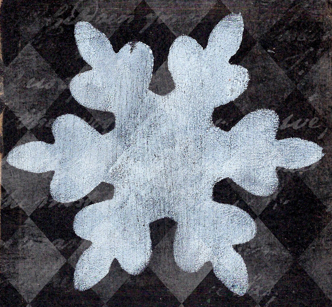 """Snowflake 3""  Prints on Wood 4x4 Overstock"