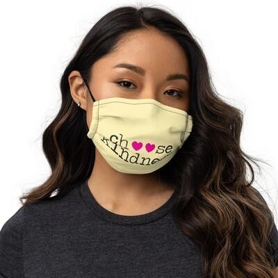 Choose Kindness pink flower Face mask
