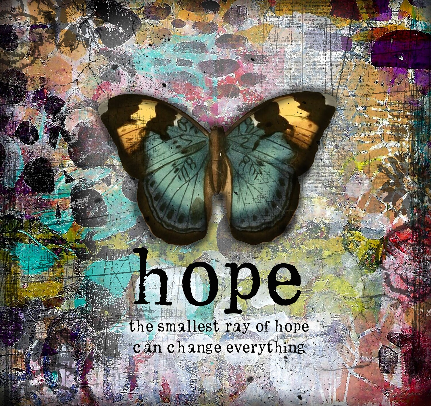 """""""Hope the smallest ray of hope can change everything"""" Print on Wood 4x4 Overstock"""
