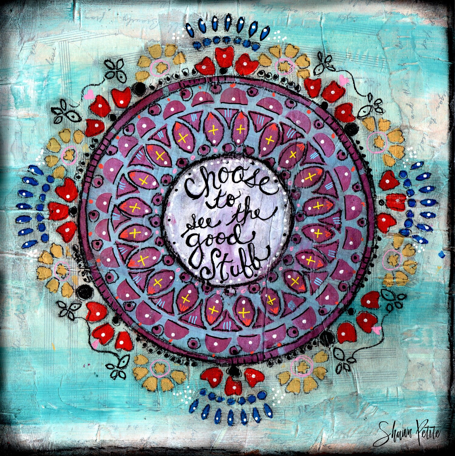 """""""Choose to see the good Stuff"""" Print on Wood 4x4 Overstock"""