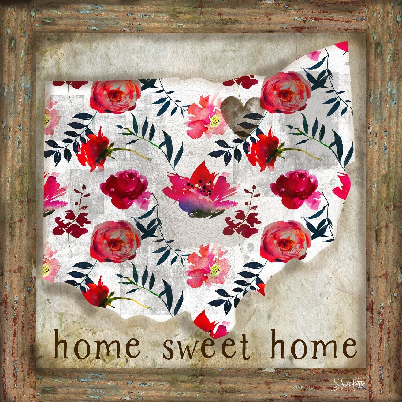 """Home sweet Home"" Ohio Print on Wood 6x6 Overstock"