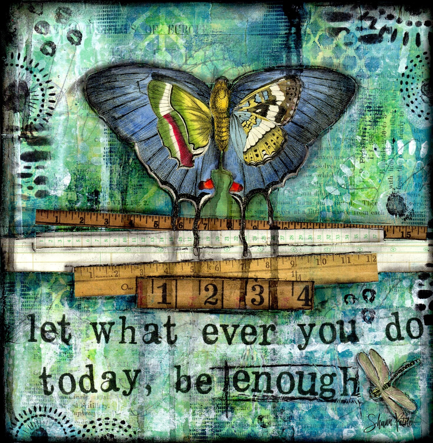 """""""Let what ever you do today, be enough"""" butterfly Print on Wood 6x6  Overstock"""