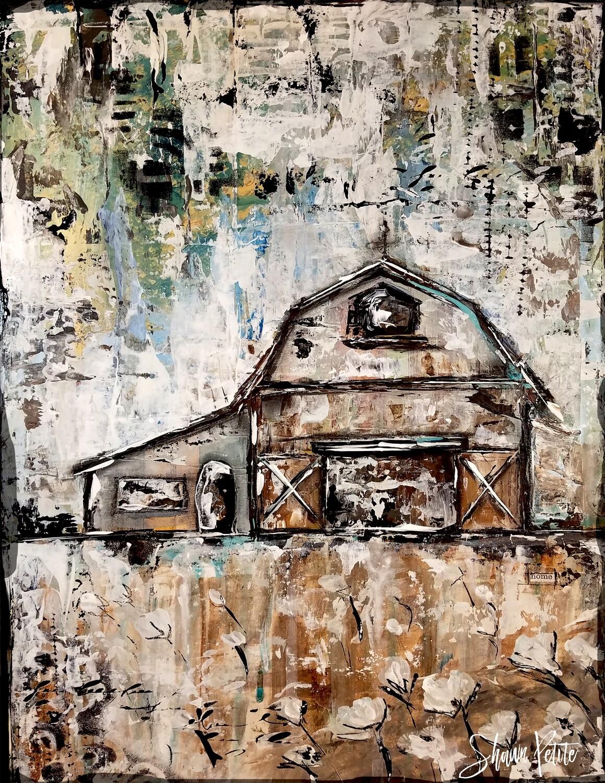 """Farmhouse barn"" Print on Wood 4x6 Overstock"