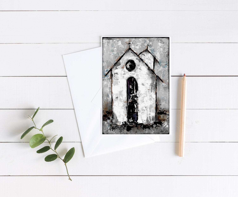 """""""Grateful"""" rustic church 5x7 4 pack card"""
