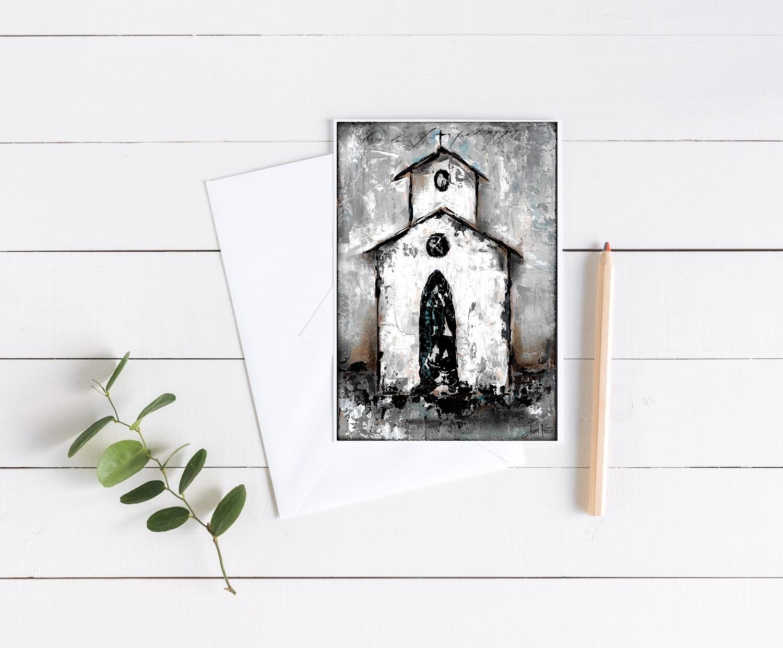 """""""Find my joy"""" rustic church 5x7 card"""