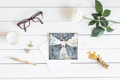 """""""Angel"""" sympathy 5x5 card"""