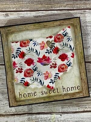 Home Sweet Home Print on Wood 4x4 Clearance