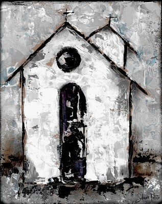 """""""Grateful"""" rustic church Print on Wood and Print to be Framed"""
