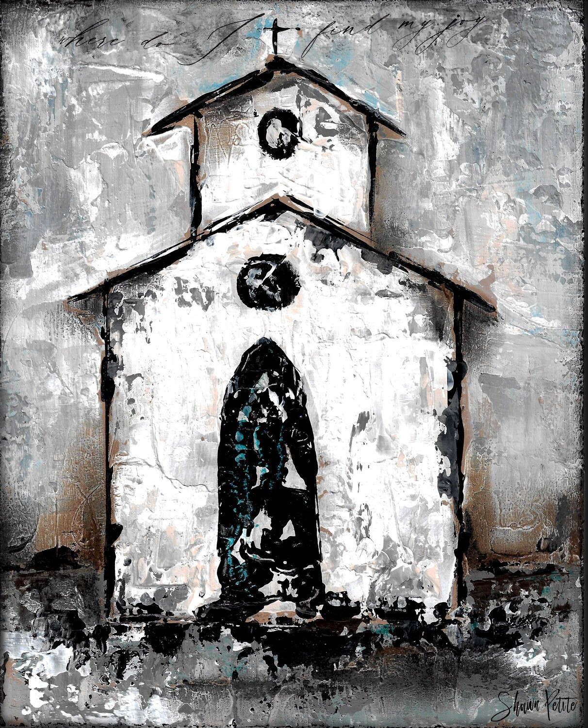 """Find my Joy"" rustic church Print on Wood and Print to be Framed"