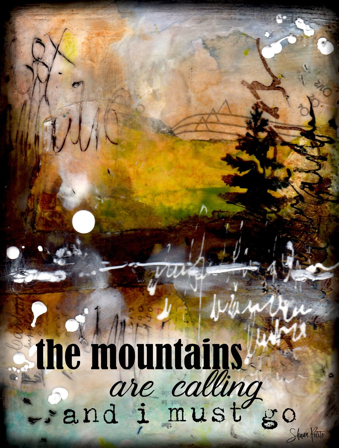 """""""The mountains are calling and I must go"""" Print on Wood 5x7 Overstock"""