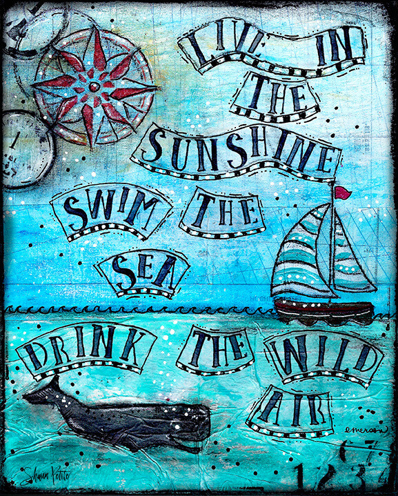 """""""Live in the Sunshine"""" Print on Wood 5x7 Overstock"""
