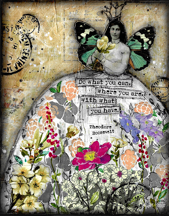 """""""Do what you can where you are with what you have"""" Print on Wood 5x7 Overstock"""
