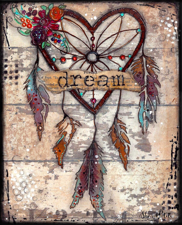 """Dream"" dream catcher  Print on Wood 5x7 Overstock"
