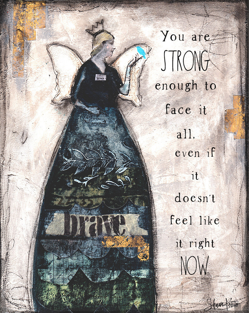 """""""You are strong enough to face it all"""" Print on Wood 5x7 Overstock"""