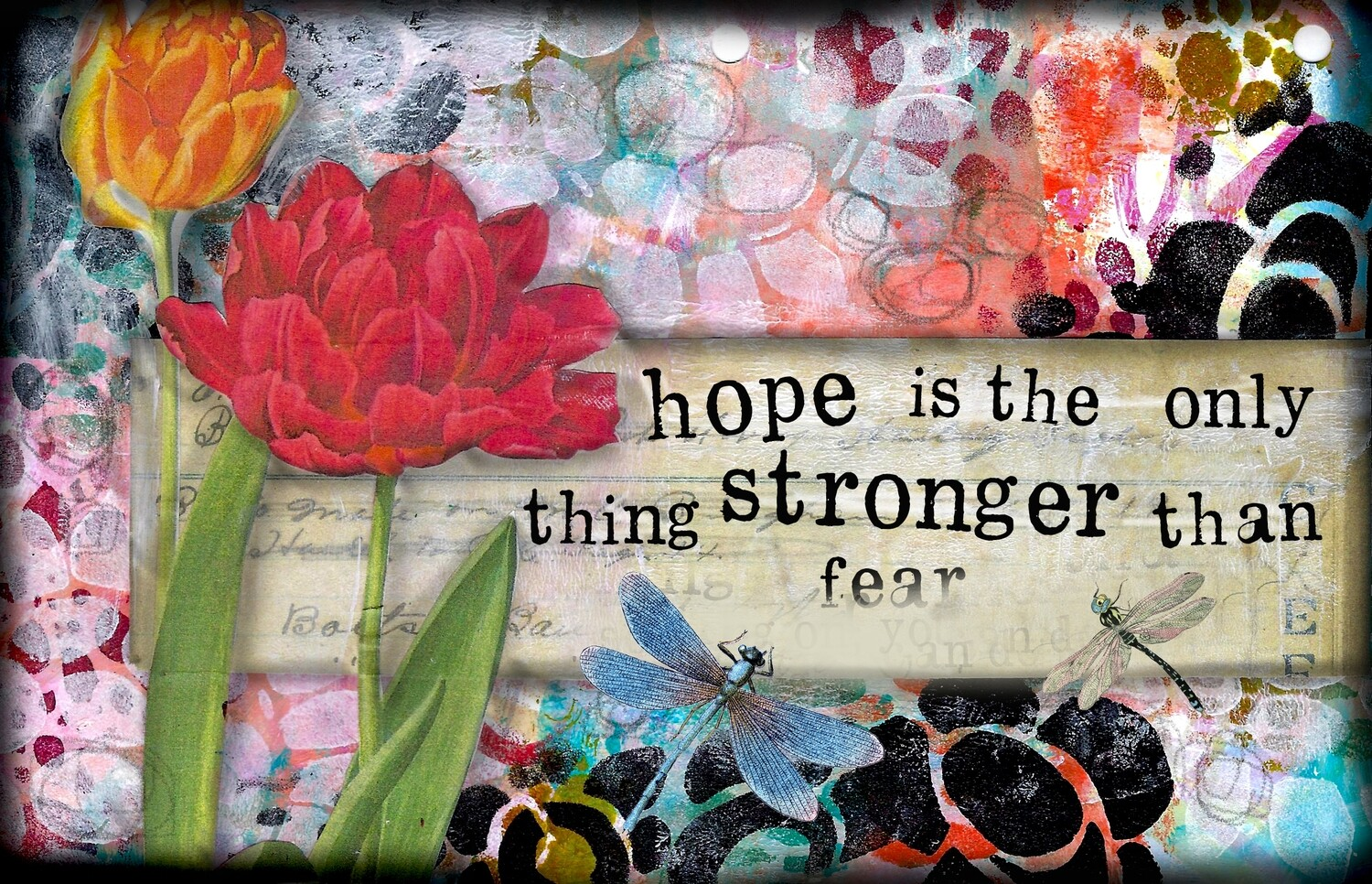 """""""Hope is the only thing stronger than fear"""" Print on Wood 7x5 Overstock"""