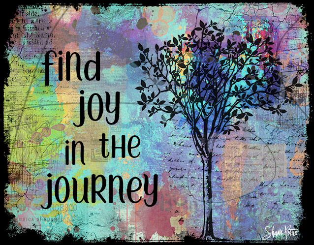 """Find joy in the journey"" Print on Wood 6x4 Overstock"