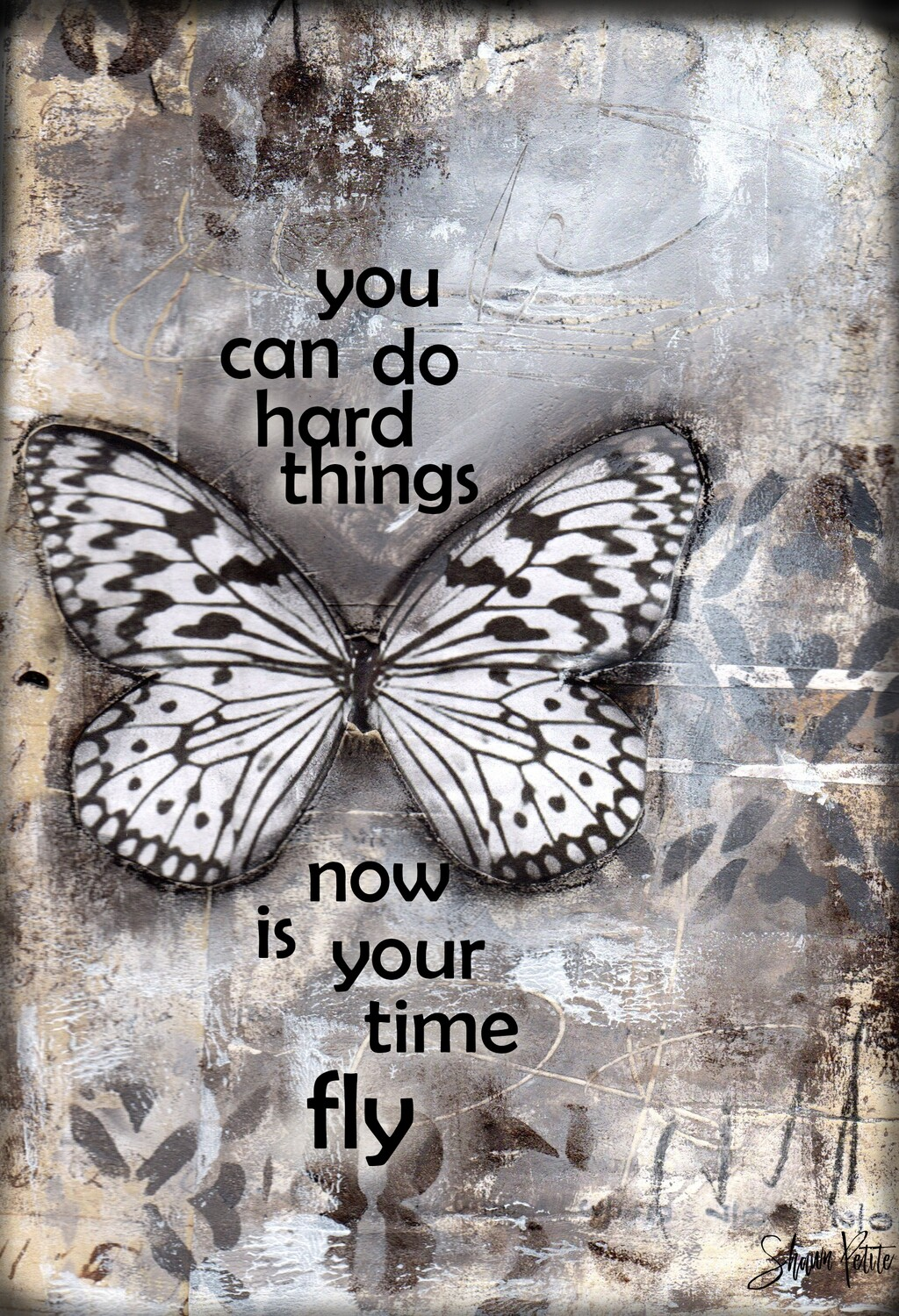 """""""You can do hard things, now is your time to fly"""" butterfly Print on Wood 5x7 Overstock"""