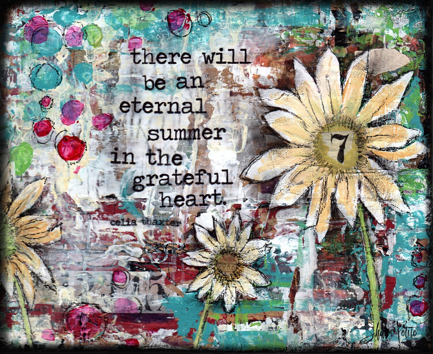 """""""There will be an eternal summer in the grateful heart"""" Print on Wood 7x5 Overstock"""