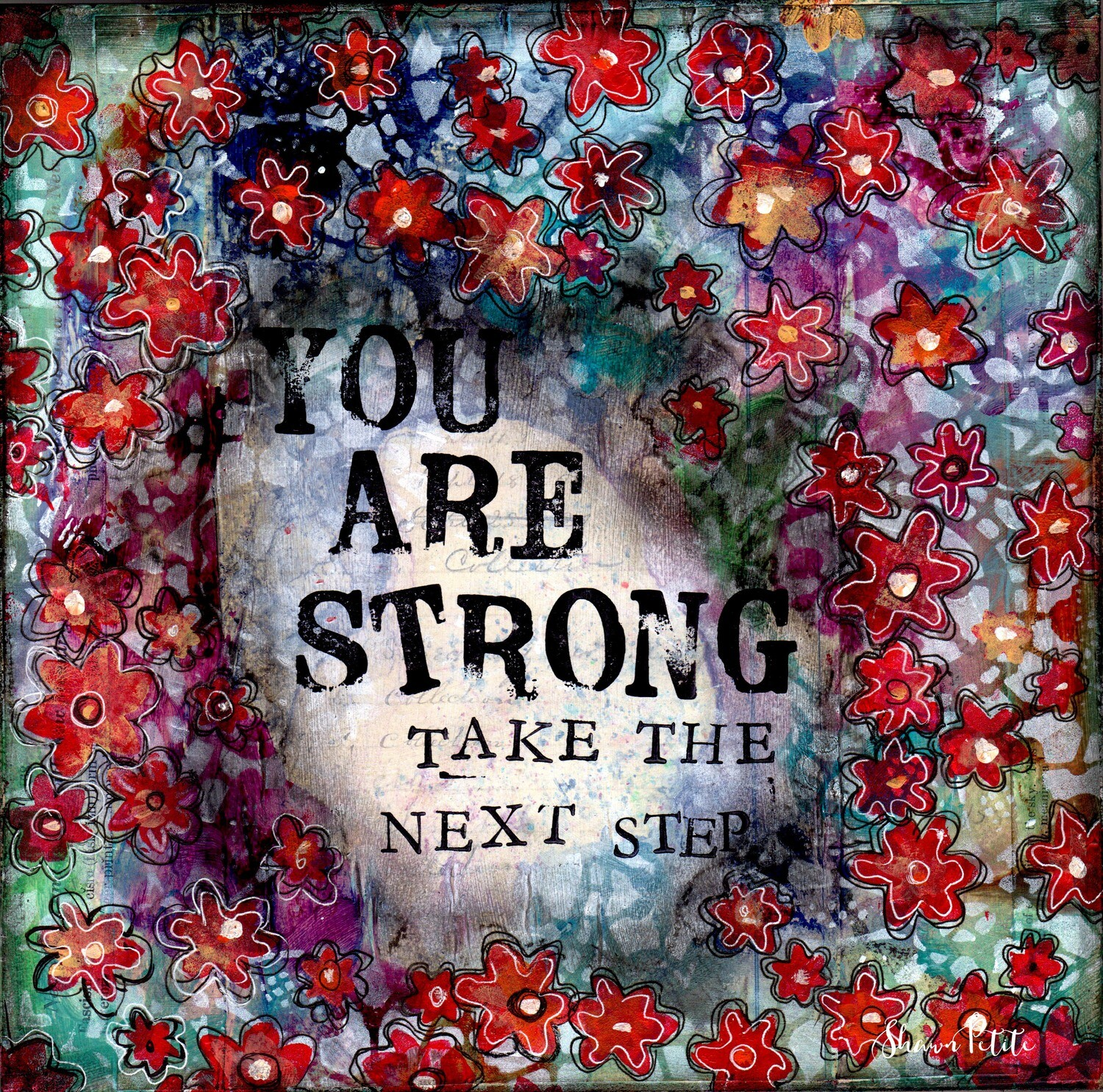 """""""You are strong take the next step"""" Print on Wood 6x6 Overstock"""
