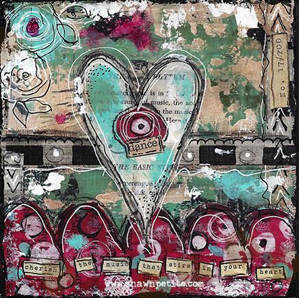 """Dance"" heart series Print on Wood 6x6 Overstock"