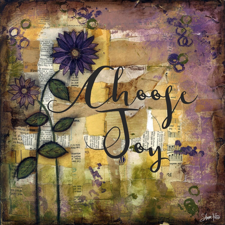 """Choose Joy"" Print on Wood 6x6 Overstock"