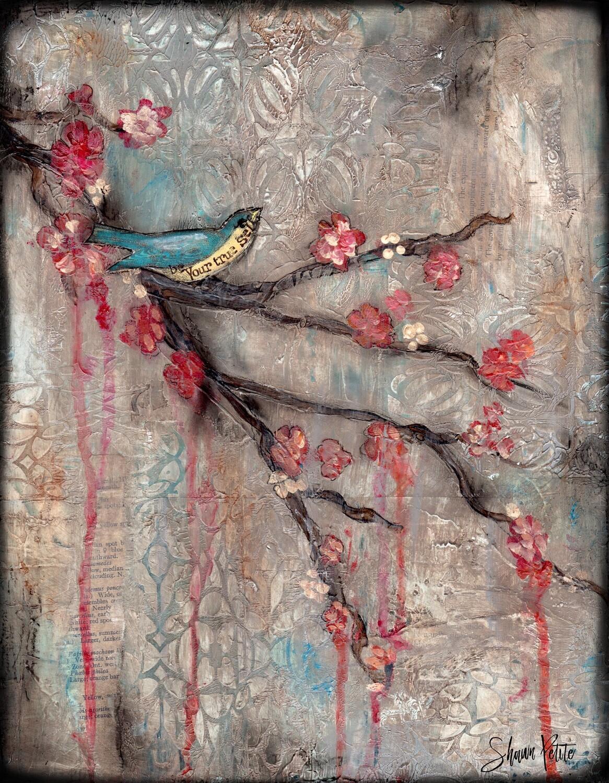 """""""Your true self"""" bird Print on Wood 8x10 Overstock"""