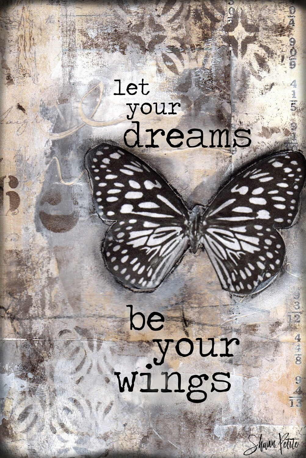 """""""Let your dreams be your wings"""" butterfly Print on Wood 8x10 Overstock"""