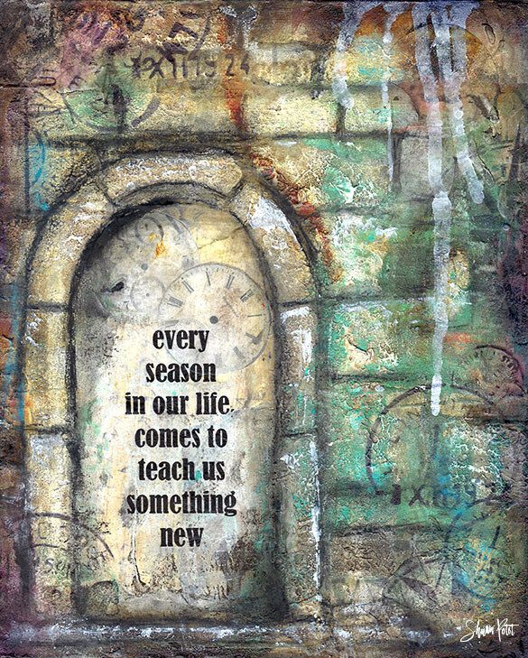 """Every season in your life comes to teach us something new"" Print on Wood 8x10 Overstock"